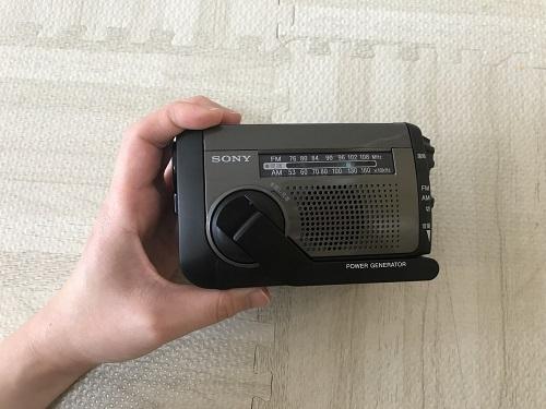 SONYの防災ラジオ(ICF-B99)
